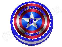 captain america cake topper captain america shield edible party cake topper decoration