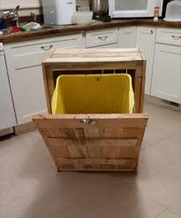 kitchen trash can ideas pallet kitchen trash can holder