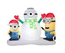 amazon christmas inflatable minion stuart u0026 kevin building