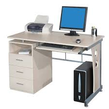 bureau informatique avec rangement bureau informatique avec tiroirs de rangement couleur érable