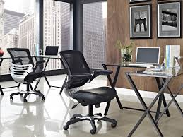 Desk Chair Cushion Office Chair Cool Black Leather Chrome Drafting Desk Chair