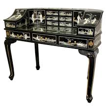 tables wonderful ladys roll secretary desk with mother of pearl