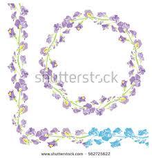 vector lavender wreath provencal style vintage stock vector