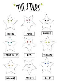 color recognition worksheets preschoolers working colors funny