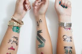 diy bachelorette temporary tattoos something turquoise