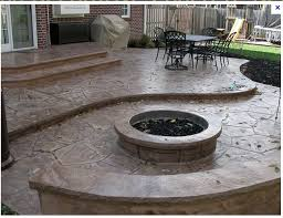 Stamped Concrete Backyard Ideas Alluring Stamped Concrete Patio Images For Your Home Decor