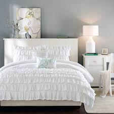 shop intelligent design waterfall comforter set ruffle white