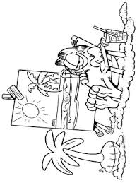 garfield coloring pages download print garfield coloring pages