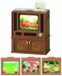 Amazoncom Sylvanian Families Deluxe TV Set  New Toys - Sylvanian families living room set