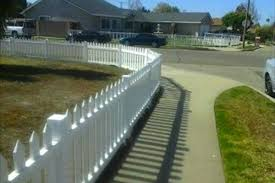 White Backyard Fence - north hollywood fence installation vinyl fences finest fence com