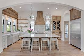 Coastal Kitchen Designs by Choosing Hardwood Floor Stains