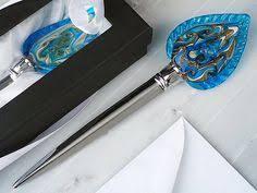 letter opener favors leopard print murano glass letter opener letter openers