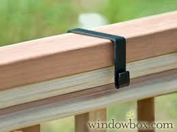 Deck Bench Bracket Deluxe Deck Rail Brackets For Coir Lined Baskets 2x4 Inches