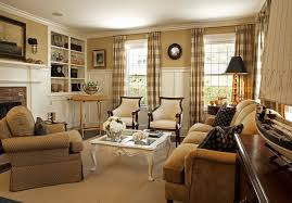 sumptuous buffalo check curtains in living room traditional with