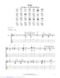 un gran bel vasco sally guitar pro tab by vasco musicnoteslib