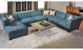 Tufted Sectional Sofa by U Shape Blue Suede Tufted Sectional Sofa With Right Chaise Lounge