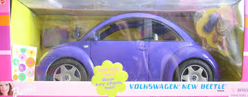 volkswagen purple amazon com barbie volkswagen beetle vehicle purple with real