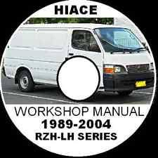genuine factory electrical wiring diagram toyota hiace rzh lh