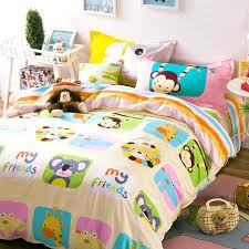 Giraffe Bedding Set Bright Duvet Covers Monkey Giraffe Koala Animals Bedding