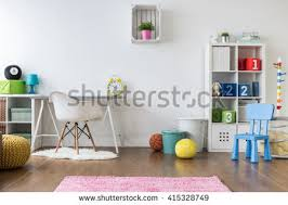 colorful room positive minimalist colorful room kids teenagers stock photo