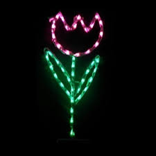 lighted outdoor decorations lighted flower decorations