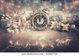 German New Year Decorations by Happy New Year 2017 Vintage Alarm Stock Photo 522958465 Shutterstock