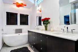 White Master Bathroom Ideas Bathroom Color Black And White Master Bath With Pops Of