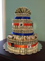 high school graduation gift ideas for him a money cake i made for my s high school graduation gift by