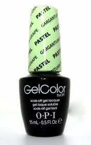 opi gel soak off gel lacquer nail polish gargantuah green grape