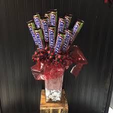 1 dozen candy bar bouquet with hershey s kisses in allen tx