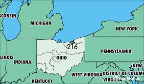 us area code map printable where is area code 216 map of area code 216 cleveland oh area