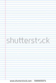vector notebook lined paper background template stock vector