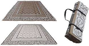 Rv Patio Rugs by Rv Outdoor Rug 9x12 Reversible Area Carpet Brown Large Camper