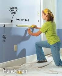 Two Tone Blue Bedroom How To Install A Chair Rail Walls Room And Cheap Chairs