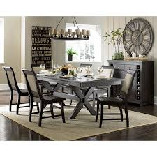 Willow Rectangular Dining Room Set W Upholstered Chairs - Dining room sets with upholstered chairs