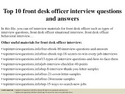 Front Desk Officer Top 10 Front Desk Officer Questions And Answers 1 638 Jpg Cb 1428282755