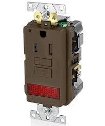 gfci receptacle with indicator light 15a 125v industrial grade pilot light tr self test gfci