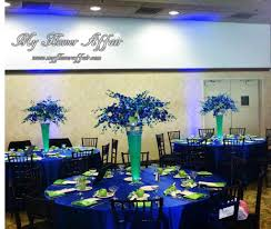 royal blue and lime green wedding party decor party decoration