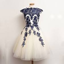 royal blue tulle vintage prom homecoming dress white tulle with royal blue