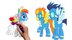 mlp rainbow dash and spitfire my little pony coloring for