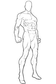 superhero character template blank male standing 2 png 400 600
