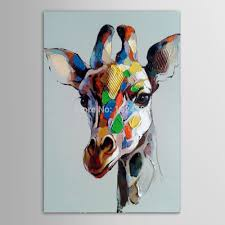 hand painted abstract animals oil painting on canvas wall art