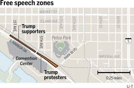 San Diego Convention Center Map by San Diego Trump Rally Police Create U0027free Speech Zones U0027 The San