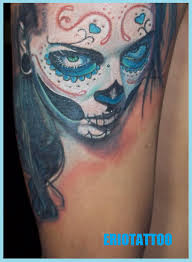 santa muerte tattoo by eriotattoo on deviantart