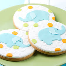 Mod Baby Shower by Mod Circle Baby Elephant Cookies Cookie Decorating