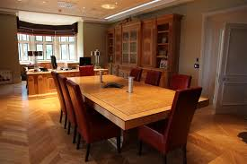 Oak Meeting Table Handmade Furniture Boardroom Tables Bespoke Veneering Hillside
