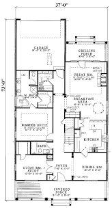 apartments narrow house floor plans narrow lot house plans home