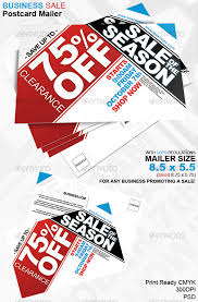 business sale postcard mailer 8 5 x 5 5 by jmzolman graphicriver