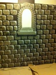 How To Paint A Faux Brick Wall - easy to paint faux castle wall for a child u0027s bedroom or anywhere