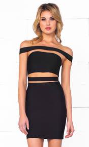 black cut out dress xo it girl black strapless cut out bandage bodycon mini